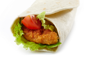 Wrap with fried chicken and vegetables_65945886